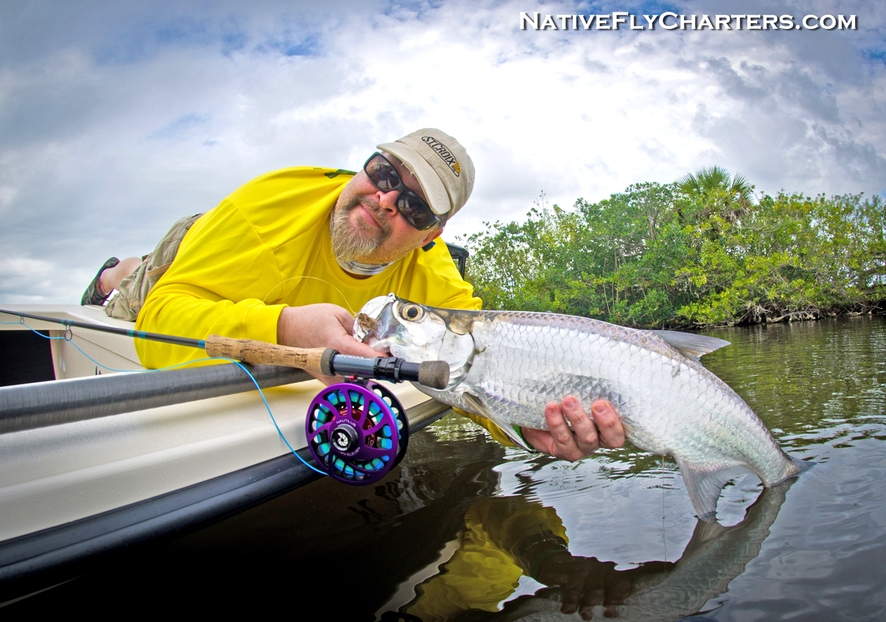 mosquito lagoon tarpon on fly